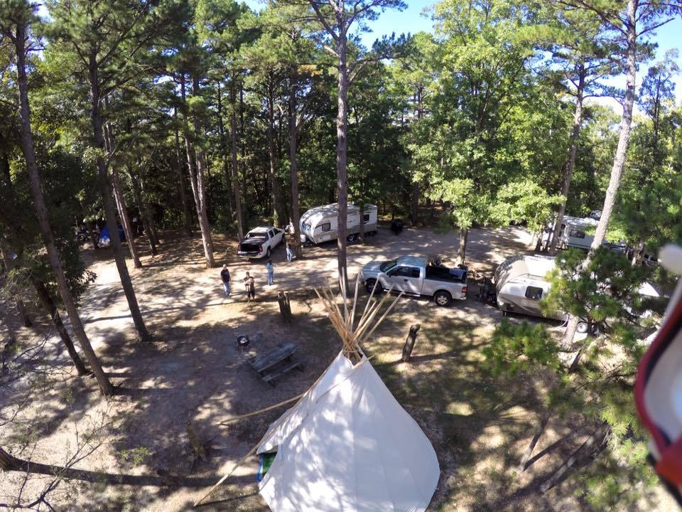 Birds Eye View of The Teepee